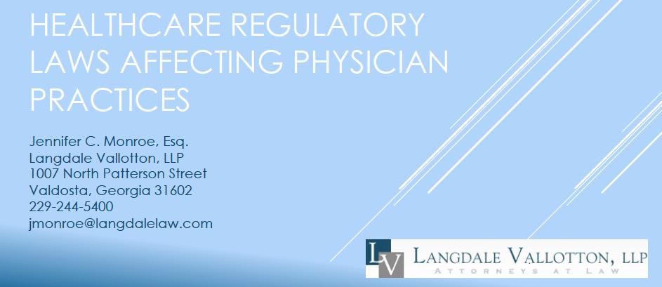 Jennifer C. Monroe Presents to SGMGMA on Healthcare Law