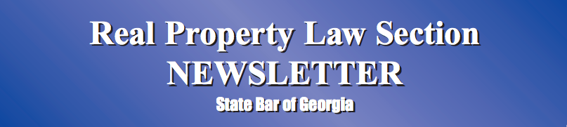 Jimmy Miller Publishes Article in the Real Property Law Section Newsletter of the State Bar of Georgia